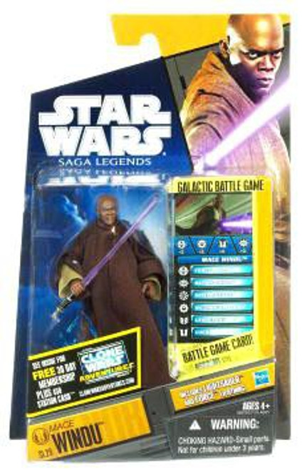 Star Wars Revenge of the Sith Saga Legends 2011 Mace Windu Action Figure SL29