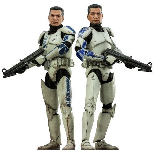 The Clone Wars Militaries of Star Wars Sixth Scale Echo & Fives Deluxe Action Figure
