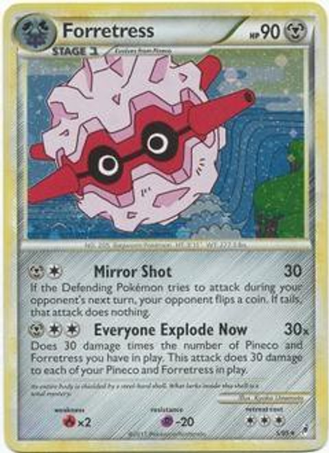 Pokemon Trading Card Game Call of Legends Rare Holo Forretress #5