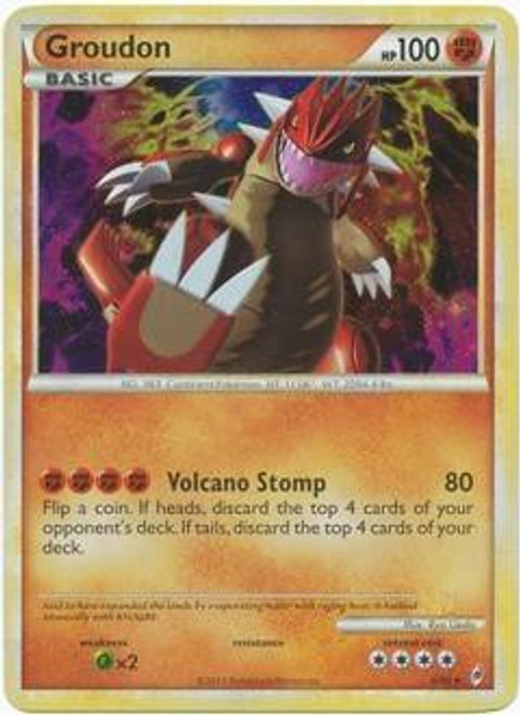 Pokemon Trading Card Game Call of Legends Rare Holo Groudon #6