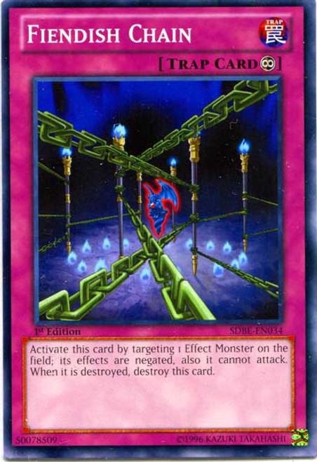 YuGiOh Saga of Blue-Eyes White Dragon Structure Deck Common Fiendish Chain SDBE-EN034