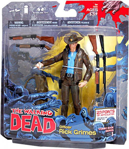 McFarlane Toys The Walking Dead Comic Series 1 Officer Rick Grimes Action Figure