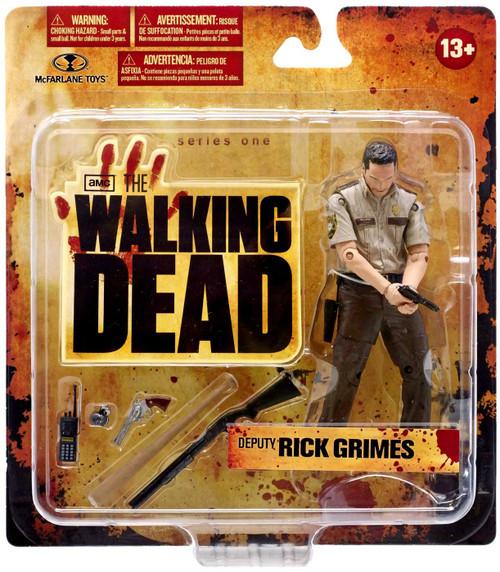 McFarlane Toys The Walking Dead AMC TV Series 1 Deputy Rick Grimes Action Figure