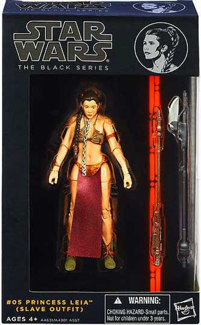 Star Wars Return of the Jedi Black Series Wave 2 Princess Leia Action Figure #05 [Slave Outfit]