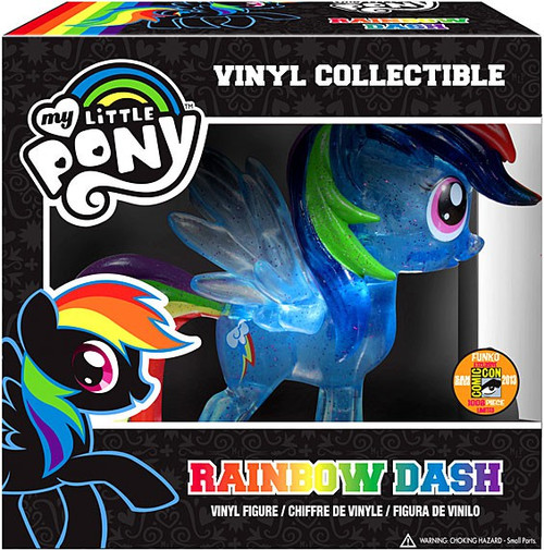 Funko My Little Pony Vinyl Collectibles Glam Rainbow Dash Exclusive Vinyl Figure [Crystalized Glitterized Sparkelized]