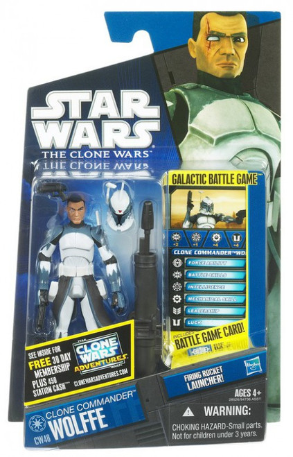 Star Wars The Clone Wars 2011 Clone Commander Wolffe Action Figure CW48