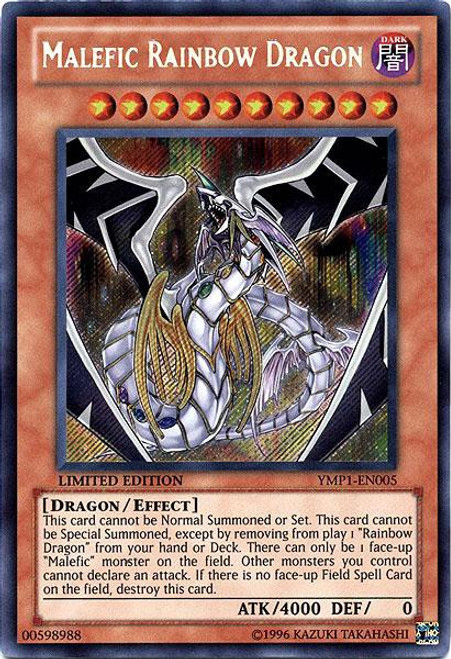 YuGiOh Bonds Beyond Time Movie Promo Secret Rare Malefic Rainbow Dragon YMP1-EN005