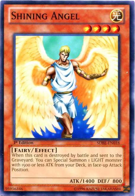 YuGiOh Saga of Blue-Eyes White Dragon Structure Deck Common Shining Angel SDBE-EN018