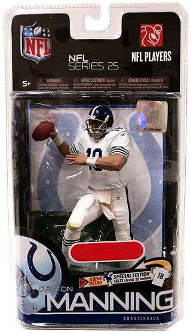 McFarlane Toys NFL Indianapolis Colts Sports Picks Series 25 Peyton Manning Exclusive Action Figure [Retro Uniform]