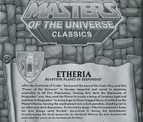 Masters of the Universe Classics Club Eternia Map of Etheria Exclusive