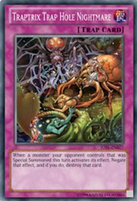 YuGiOh Trading Card Game Judgment of the Light Super Rare Traptrix Trap Hole Nightmare JOTL-EN077