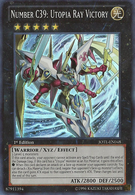 YuGiOh Trading Card Game Judgment of the Light Super Rare Number C39: Utopia Ray Victory JOTL-EN048
