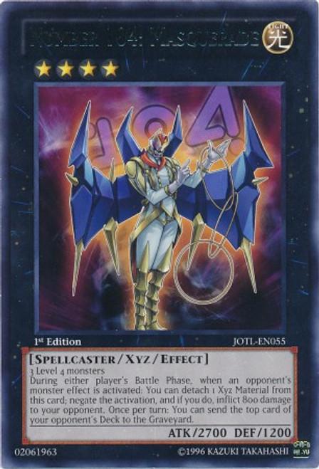 YuGiOh Zexal Trading Card Game Judgment of the Light Rare Number 104: Masquerade JOTL-EN055