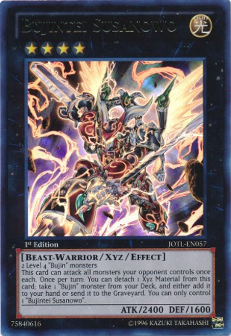 YuGiOh Trading Card Game Judgment of the Light Ultra Rare Bujintei Susanowo JOTL-EN057