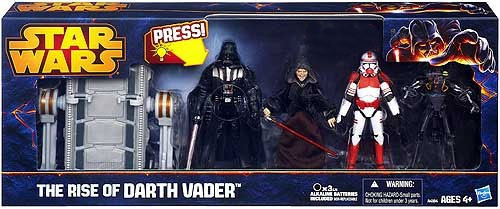 Star Wars Revenge of the Sith The Rise of Darth Vader Exclusive Action Figure 4-Pack [Vader, Palpatine, Shock Trooper & Medical Droid]