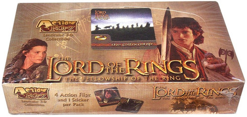 The Lord of the Rings Action Flipz The Fellowship of the Ring Trading Card Box