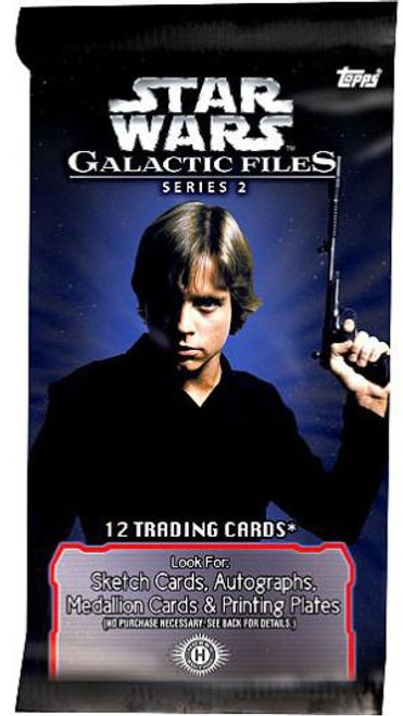 Star Wars Topps Galactic Files Series 2 Trading Card Pack [12 Cards]