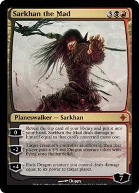 MtG Rise of the Eldrazi Mythic Rare Sarkhan the Mad #214