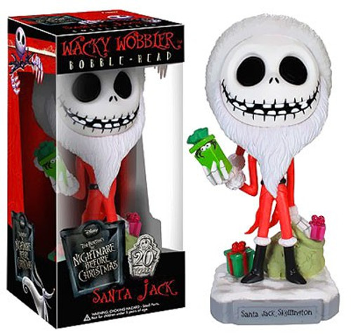 Funko Nightmare Before Christmas Wacky Wobbler Santa Jack Skellington Bobble Head