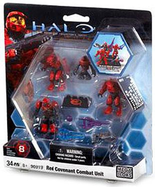 Mega Bloks Halo The Authentic Collector's Series Red Covenant Combat Unit Exclusive Set #96919
