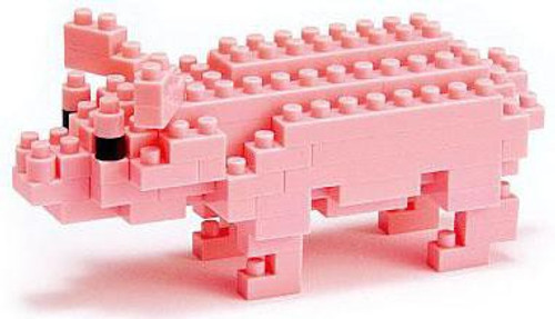 Nanoblock Micro-Sized Building Block Pig Figure Set