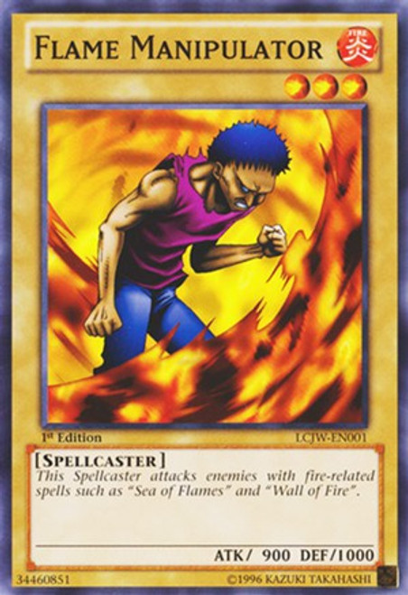 YuGiOh Legendary Collection 4: Joey's World Common Flame Manipulator LCJW-EN001