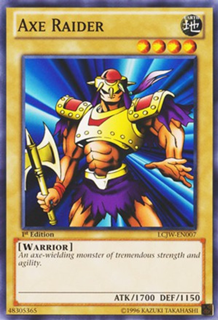YuGiOh Legendary Collection 4: Joey's World Common Axe Raider LCJW-EN007