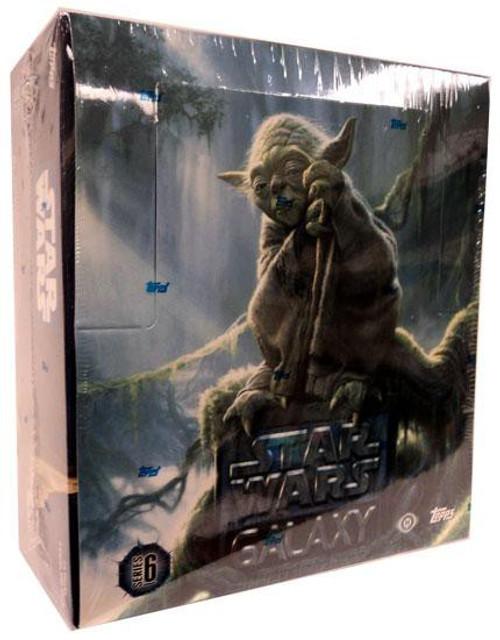 Star Wars Topps Galaxy Series 6 Trading Card HOBBY Box [24 Packs]
