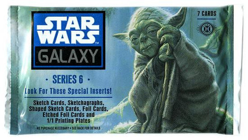 Star Wars Topps Galaxy Series 6 Trading Card HOBBY Pack [7 Cards]