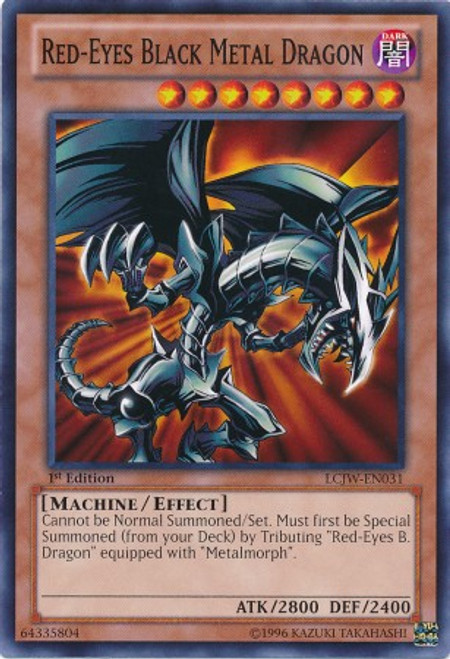 YuGiOh Legendary Collection 4: Joey's World Common Red-Eyes Black Metal Dragon LCJW-EN031