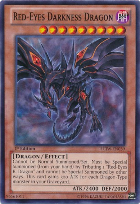 YuGiOh Legendary Collection 4: Joey's World Common Red-Eyes Darkness Dragon LCJW-EN039