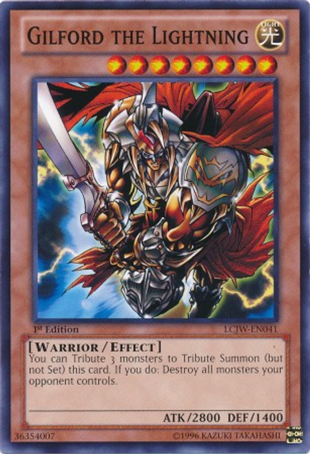YuGiOh Legendary Collection 4: Joey's World Common Gilford the Lightning LCJW-EN041