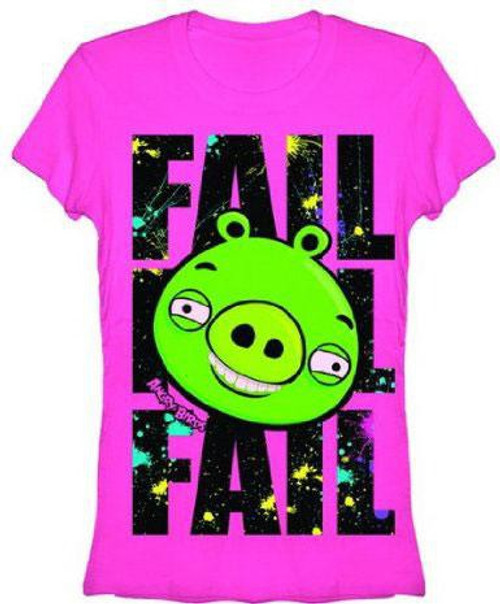 Angry Birds Splatter Fail T-Shirt [Women's Large]