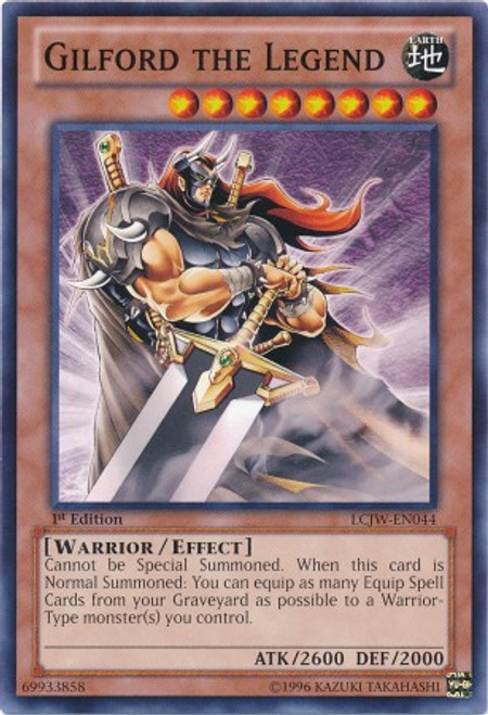 YuGiOh Legendary Collection 4: Joey's World Common Gilford the Legend LCJW-EN044