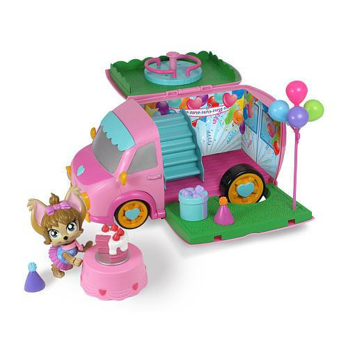 Mix Pups Pawty Van Playset [Damaged Package]