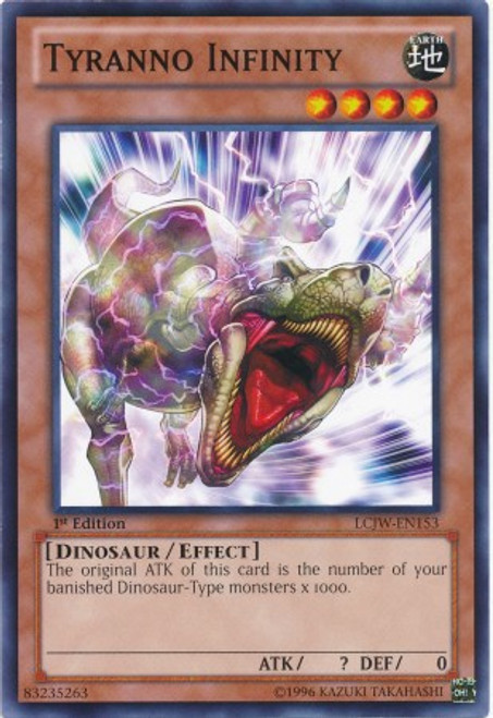 YuGiOh Legendary Collection 4: Joey's World Common Tyranno Infinity LCJW-EN153