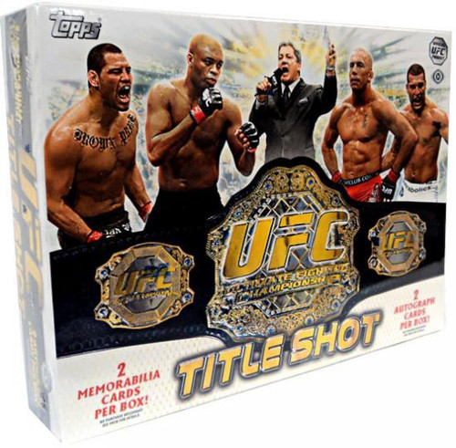 UFC Topps 2011 Title Shot Trading Card Box [12 Packs, 2 Autographs & 2 Memorabilia Cards!]