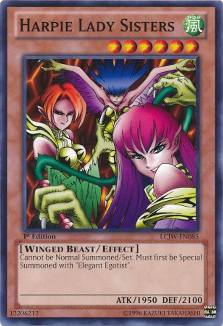 YuGiOh Legendary Collection 4: Joey's World Common Harpie Lady Sisters LCJW-EN085
