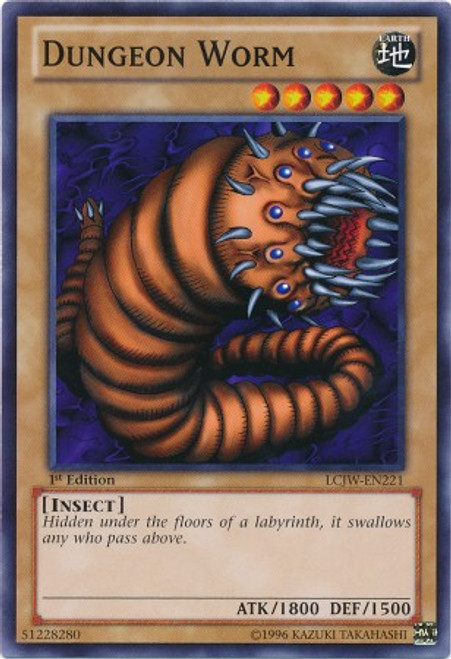 YuGiOh Legendary Collection 4: Joey's World Common Dungeon Worm LCJW-EN221