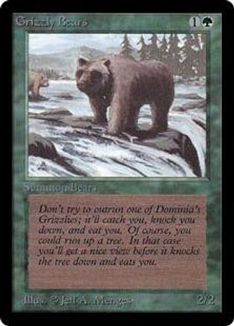 MtG Beta Common Grizzly Bears