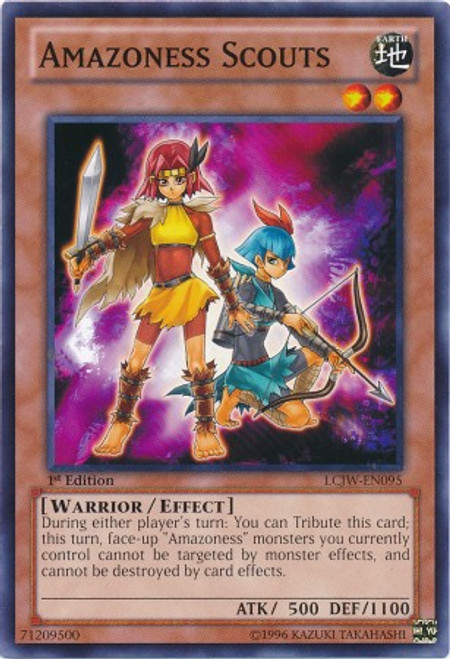 YuGiOh Legendary Collection 4: Joey's World Common Amazoness Scouts LCJW-EN095