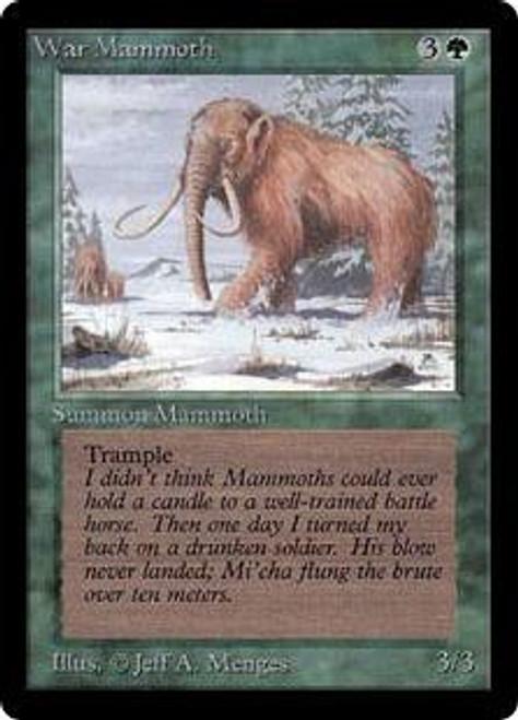 MtG Beta Common War Mammoth