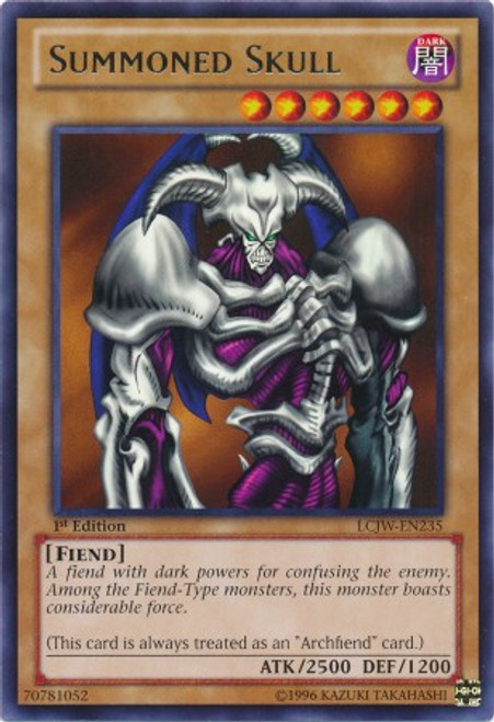 YuGiOh Legendary Collection 4: Joey's World Rare Summoned Skull LCJW-EN235