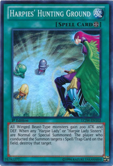 YuGiOh Legendary Collection 4: Joey's World Super Rare Harpies' Hunting Ground LCJW-EN102