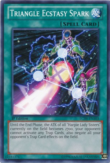 YuGiOh Legendary Collection 4: Joey's World Common Triangle Ecstasy Spark LCJW-EN103