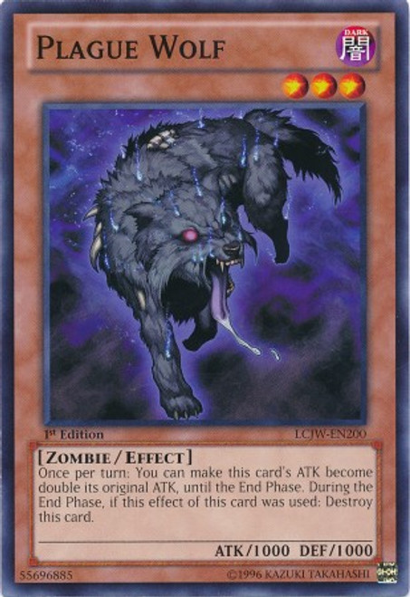 YuGiOh Legendary Collection 4: Joey's World Common Plague Wolf LCJW-EN200