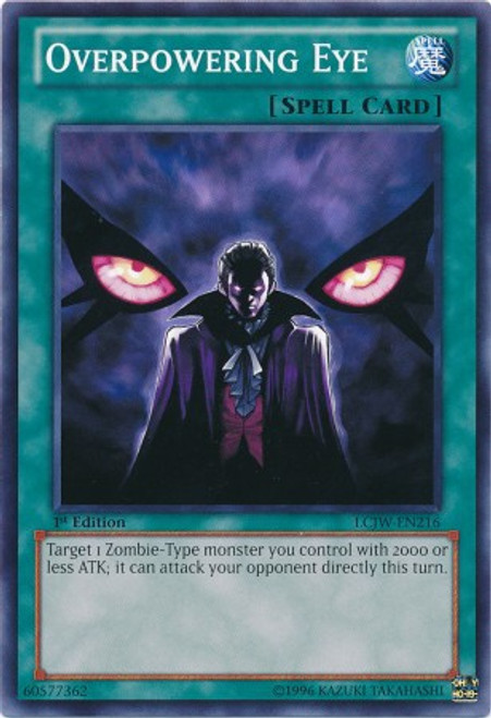 YuGiOh Legendary Collection 4: Joey's World Common Overpowering Eye LCJW-EN216