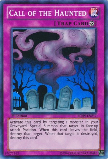 YuGiOh Legendary Collection 4: Joey's World Super Rare Call of the Haunted LCJW-EN217