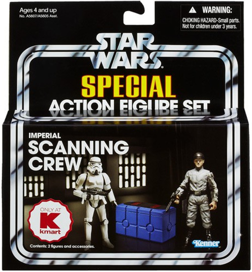 Star Wars A New Hope Vintage Special Imperial Scanning Crew Exclusive Action Figure Set [Stormtrooper TK-421 & Imperial Technician]