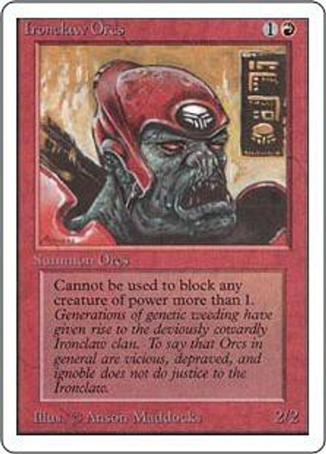 MtG Unlimited Common Ironclaw Orcs
